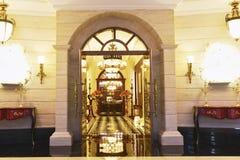 Villa doorway Stock Images