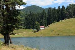Villa at Dospat lake, Bulgaria Stock Images