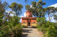 Villa Durazzo- Pallavicini, het kapiteins` s kasteel in Genoa Pegli, Italië Royalty-vrije Stock Afbeeldingen