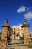 Villa Entrance, Italy. An entrance to a villa in Sicily, Italy against a blue sky Stock Photos