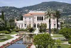 Villa Ephrussi de Rothschild, French Riviera. Villa Ephrussi de Rothschild is a French seaside villa located at Saint-Jean-Cap-Ferrat on the French Riviera Royalty Free Stock Images