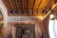 Villa Ephrussi de Rothschild, helgon capFerrar Jean, Frankrike Arkivbild