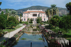 Villa Ephrussi de Rothschild. Saint-Jean-Cap-Ferrat, built in 1905-1912. Côte d'Azur, France Stock Images