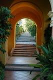 Villa Ephrussi de Rotschild Spanish garden. Villa Ephrussi de Rotschild on Saint-Jean-Cap-Ferrat near Nice in France, Spanish garden Royalty Free Stock Image