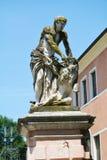 Villa et statue publiques de belvédère dans Mirano images libres de droits