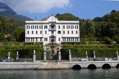 villa för carlottacomolake arkivbilder