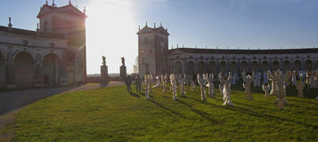 villa för panorama för ängelköritaly manin Arkivbilder