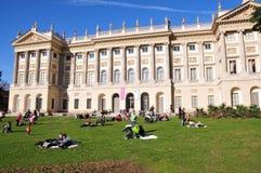 villa för reale för milan slottpark Royaltyfri Fotografi