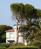 villa för provence havssida Arkivbilder