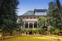 Villa Faccanoni bij Sarnico & x28; Bergamo& x29; royalty-vrije stock foto