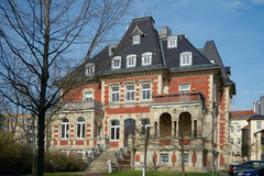 Villa Ferber, Gera town, Germany. Villa Ferber in Tivolistrasse 1 (1886, architect Fraulob), Gera, Germany Royalty Free Stock Photo