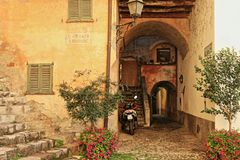 Villa Fogazzaro Roy, une résidence antique en Italie photo libre de droits