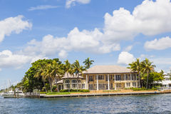Villa in Fort Lauderdale seen from the water taxi Royalty Free Stock Photo