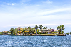 Villa in Fort Lauderdale seen from the water taxi stock photos