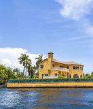 Villa in Fort Lauderdale seen from the water taxi Royalty Free Stock Image