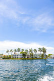 Villa in Fort Lauderdale seen from the water taxi Royalty Free Stock Photos