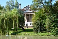 Villa Foscari, named La Malcontenta, designed by Andrea Palladio architect. Year 1565, on Brenta river near Venice in Italy - aug 06 2014 Royalty Free Stock Photo