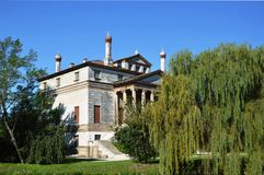 Villa Foscari, named La Malcontenta, designed by Andrea Palladio architect. Year 1565, on Brenta river near Venice in Italy - aug 06 2014 Stock Photos