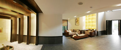 Villa foyer. This is Chinese-style luxury villas, a symbol of wealth and status Stock Photo