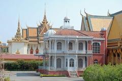 villa för kunglig person för phnom för cambodia napoleon slottpenh Arkivfoto