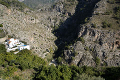Villa in Frigiliana an old Moorish village above Nerja on the Costa del Sol in Southern Spain Royalty Free Stock Photo