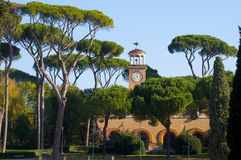 Villa in front of the Piazza di Siena Royalty Free Stock Photo