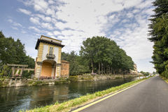 Villa Gaia and the Naviglio Grande Stock Photography