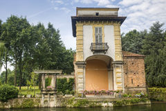 Villa Gaia on the Naviglio Grande Stock Photo