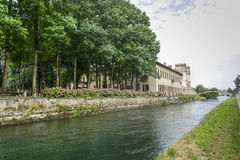 Villa Gaia on the Naviglio Grande Stock Photos