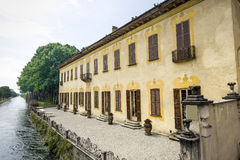 Villa Gaia on the Naviglio Grande Royalty Free Stock Photography