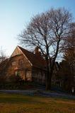 Villa and garden. A small villa on a hill with garden Royalty Free Stock Photo