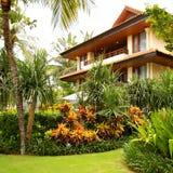 Villa with garden. Villa with beautiful garden on  luxury Balinese resort Stock Photography