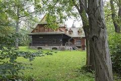Villa genoemde Ornak in Zakopane royalty-vrije stock foto's