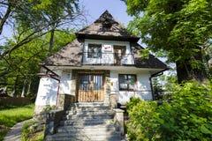 Villa genoemde Wieslaw, in Zakopane stock afbeelding