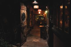 VILLA GESELL,ARGENTINA-MARCH 21, 2018: Interior of a beautiful and cozy irish pub called Old Hobbit stock photography