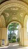 Villa Giulia in Rome, courtyard and arcade. Rome, Italy, march 25, 2017: Courtyard and arcade of Villa Giulia, houses Museo Nazionale Etrusco National Etruscan Stock Photography