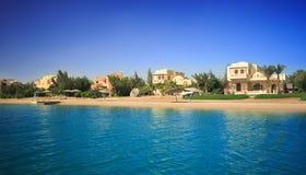 Villa. Gr Gouna. Egypte. Royalty-vrije Stock Foto