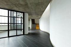 Villa, grande finestra, scale della priorità bassa immagini stock libere da diritti