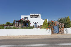 Villa in Greece, Rhodes island Royalty Free Stock Photo
