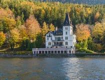 Villa, Grundlsee, Austria fotografie stock libere da diritti
