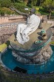 Fountain and sculpture of Juan Diego. VILLA OF GUADALUPE, MEXICO CITY, DECEMBER 04, 2017. Fountain and sculpture dedicated to the now Saint Juan Diego stock images