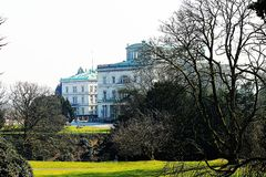 Villa Hügel and park Essen-Bredeney. A part of Vila Hügel Essen Royalty Free Stock Image