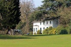 Villa Hügel and park Essen-Bredeney. Royalty Free Stock Photo