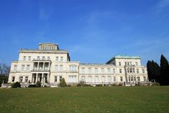 Villa Hügel and park Essen-Bredeney. Royalty Free Stock Photo