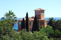 Villa Hanbury. In the Botanical Gardens Hanbury near Ventimiglia, Liguria in Italy Stock Image