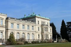 Villa Hügel and park Essen-Bredeney. Royalty Free Stock Photography