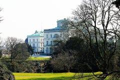Villa Hügel and park Essen-Bredeney. Royalty Free Stock Image