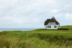 Villa historical in Denmark with sea view. Villa White historical in Denmark with sea view Stock Photo