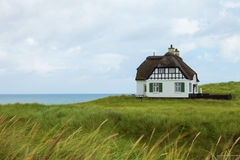 Villa historical in Denmark with sea view. Villa White historical in Denmark with sea view Stock Photography