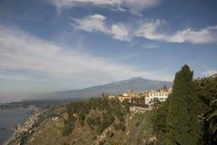 Villa hotel taormina italy Stock Photo